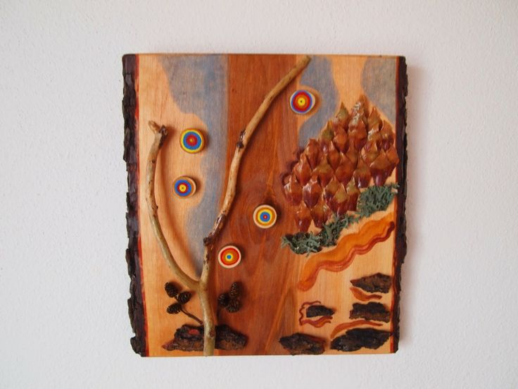 Natural materials collages