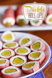 Pickle Roll-Ups Party Appetizer -- this pickle appetizer looks a little odd, but I promise it's one of the most delicious combinations you'll ever try AND it's super easy to make... Pickle wraps for the win! | via @unsophisticook on unsophisticook.com