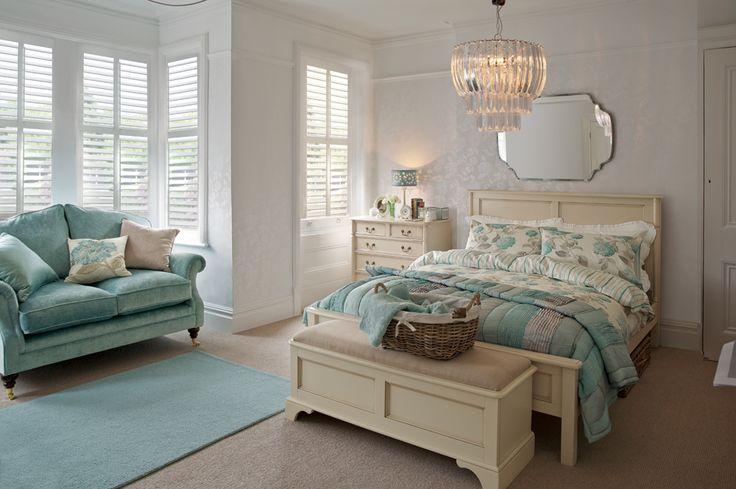 Cosy Bedroom #bedroom #lauraashley #duckegg #cosy