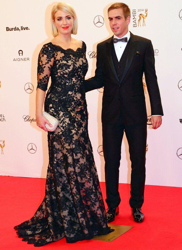 Philipp Lahm (Bayern Munich) & Claudia Lahm