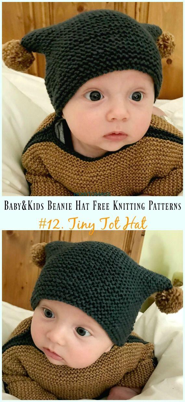 71e1196fac6 Tiny Tot Hat Knitting Free Pattern - Baby   Kids Beanie  Hat  Free  Knitting   Patterns