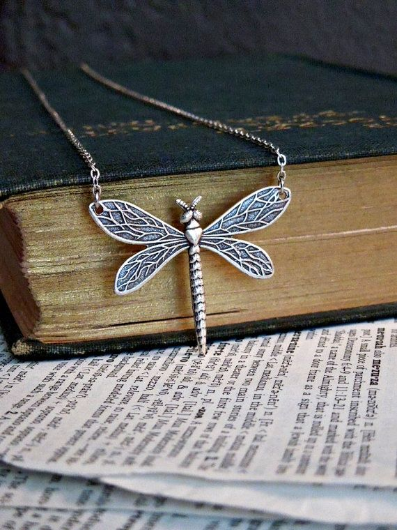 Dragonfly Necklace: I like every dragonfly necklace I see! www.BlueDragonflies.net/gallery