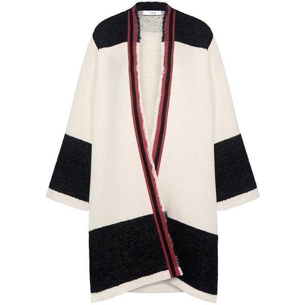 Iro - Myou Tribal Pin Wrap Cardigan (720 CAD) ❤ liked on Polyvore featuring tops, cardigans, bohemian style tops, pink top, boho style tops, tribal cardigan and bohemian tops