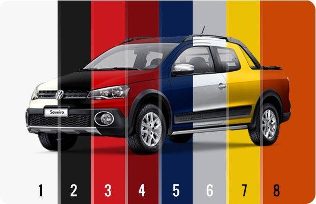 Todas as cores da Volkswagen Saveiro Cross Cabine Dupla (Foto: Autoesporte)
