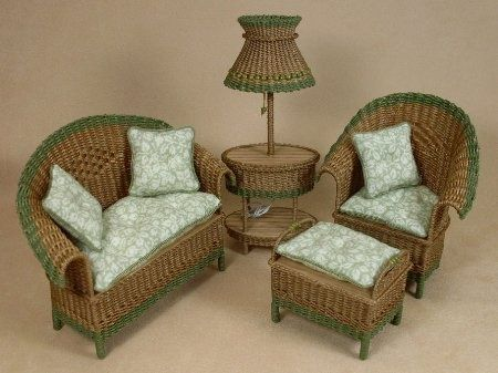 dollhouse miniature wicker furniture | ... Ciggie's Miniatures, Handcrafted dollhouse miniature wicker furniture