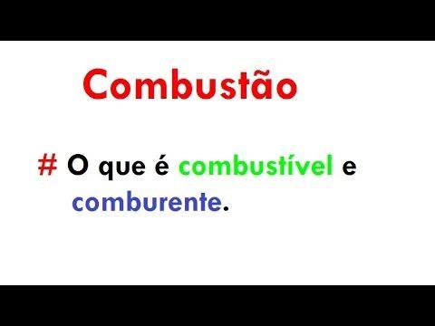 QUÍMICA - o que é combustão, comburente e combustível? (aula 01) - YouTube
