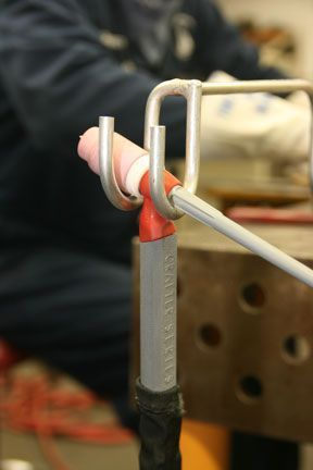 Simple TIG torch holder::