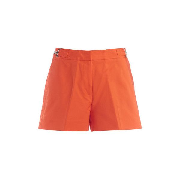MICHAEL Michael Kors Michael Kors orange shorts with clamp Trousers (£98) ❤ liked on Polyvore featuring orange, trousers, women and michael michael kors