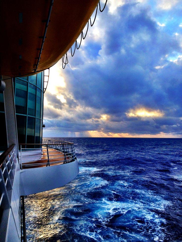 Awesome shot of a ship at sea