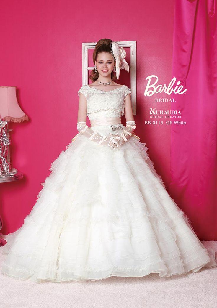 バービースタイル!Aライン・プリンセスドレスに似合うポンパドールの髪型参考♡