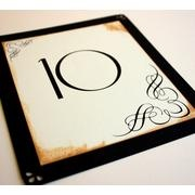 Art Nouveau Table Number. I could design these easy. and I love the thick/thin numbers