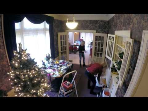 Time-lapse of Pittock Mansion's 'breakfast room' being decorated for the holidays