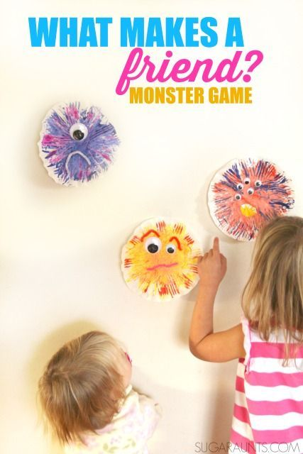Leonardo the Terrible Monster craft and game to explore friendship with kids.  Talk about the qualities that makes a good friend with kids.  This book and activity is perfect for preschool and play dates!