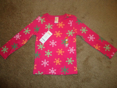 Girls size 4 4t long sleeve cheery all the way gymboree shirt