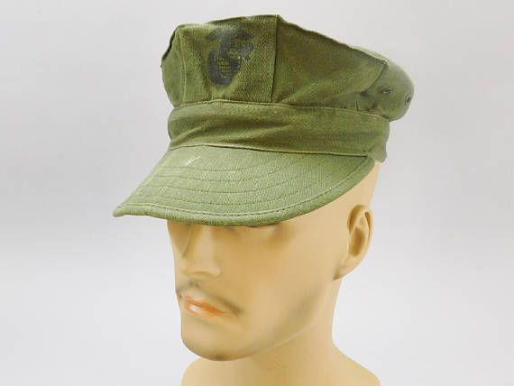 NOS USMC Utility Cover Cap OG-107 Sateen Sz L