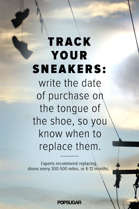Get more tips on when to replace your sneakers on POPSUGAR Fitness! #Running #Fitness #Triathlons
