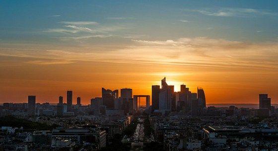fotografar o pôr-do-sol em Paris