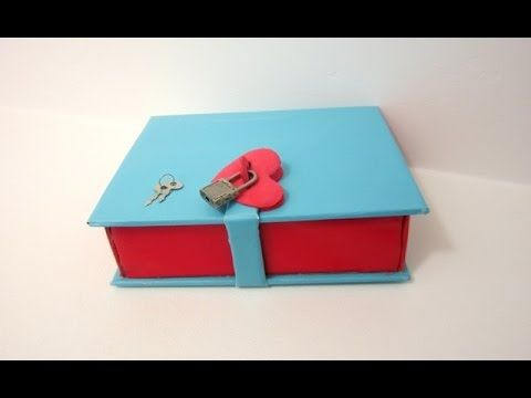 "How to make a Book Box with a Lock | ""Lock UR Secrets in a Book"" - YouTube"
