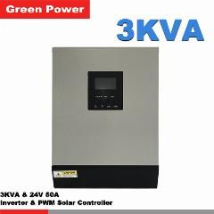 [ $27 OFF ] 3Kva 24V50A Solar Inverter With Pwm Solar Controller,connected Solar Panel Charge Battery For Solar Home Syste