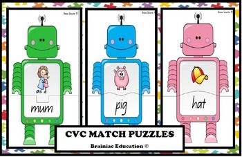 Fzzzt…Zerp..Beep… Meet the Brainiac Education Robot Family. Students can play with these little fellas by matching the CVC word to the corresponding picture. Includes – 24 cards ready to print, cut, laminate and play! Great for literacy centers and rotations.