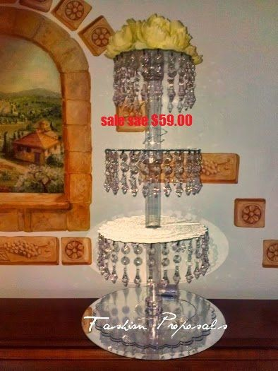 Sale Cupcake tower,4 tiers. Cupcake stand, crystal cupcake stand. This beautiful and Affordable cupcake stand will make your cake and cupcake to