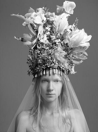 Marc PhilbertHats, Bohemian Brides, Fashion, Headdress, Head Shots, Headpieces, Floral Crowns, Snow Queens, Ice Queens