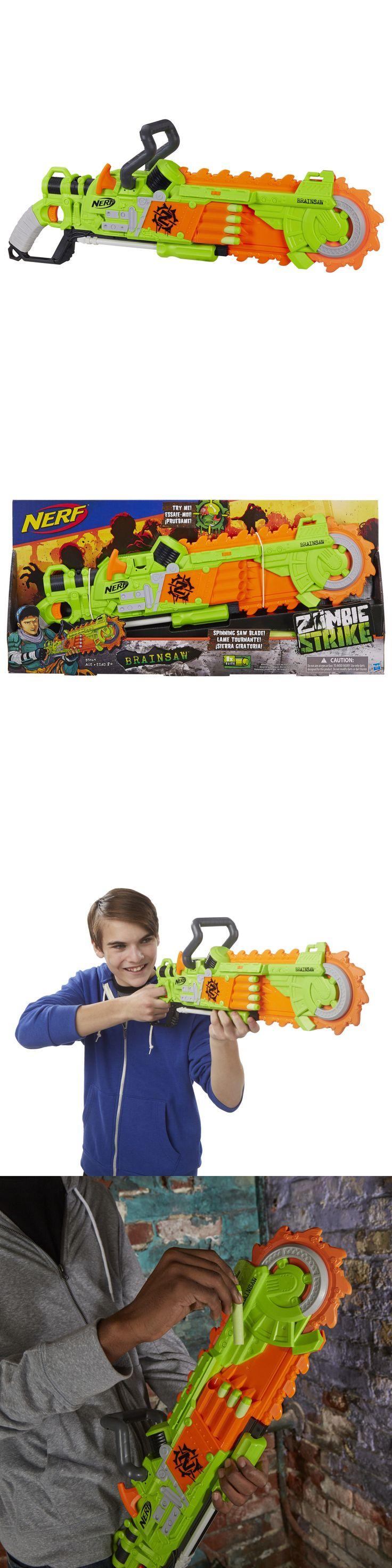 Dart Guns and Soft Darts 158749: Nerf Zombie Strike Brainsaw Blaster Gun Toy Spinning Saw Blade 8 Foam Darts Dart -> BUY IT NOW ONLY: $40.51 on eBay!