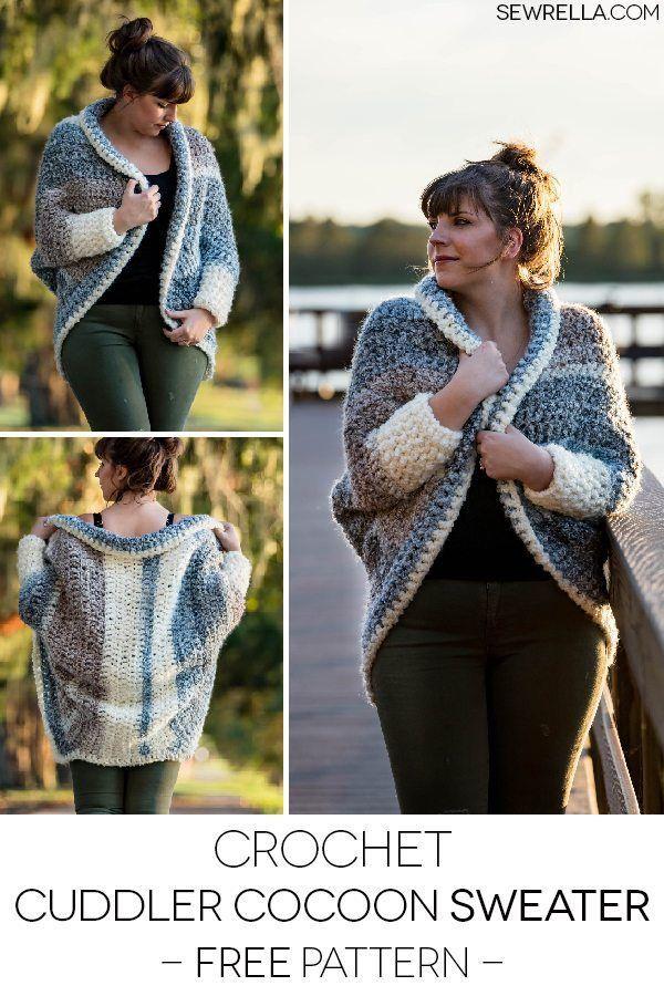 fc9e4b57d21aeb Crochet Cuddler Cocoon Sweater