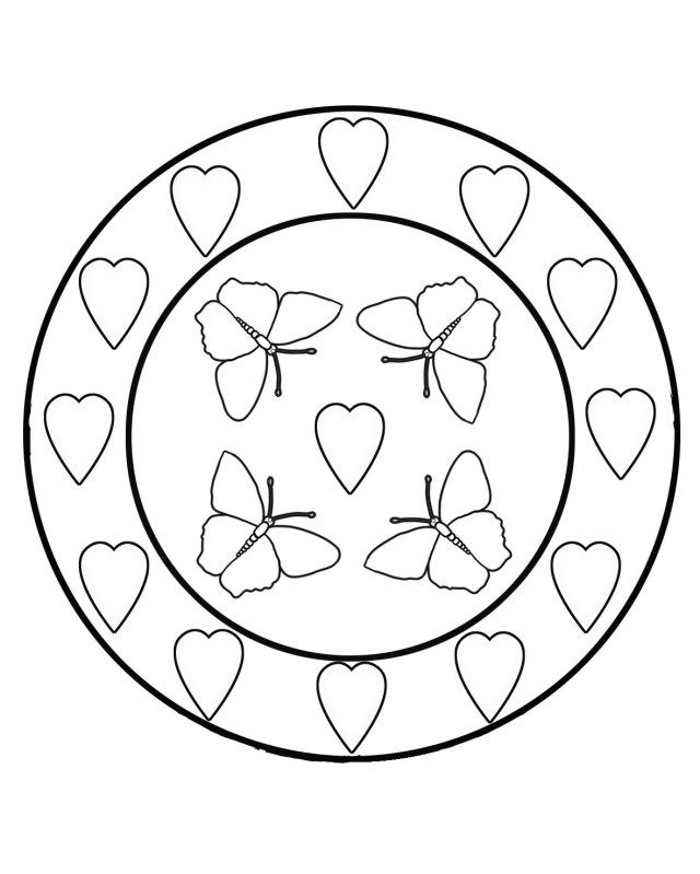 25 Creative Picture Of Circle Coloring Page Butterfly Coloring