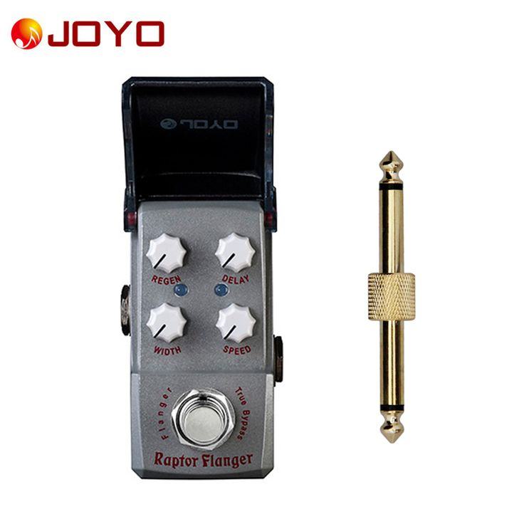 NEW Guitar effect pedal JOYO Raptor Flanger  Ironman series mini pedalst Bucket Brigade Design JF-327 + 1 pc pedal connector
