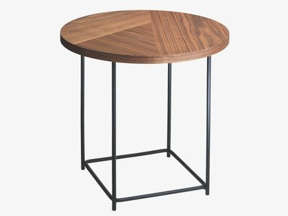 CORALIE Small walnut side table