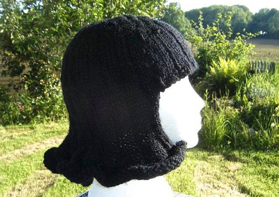 PDF Pattern. Fun and Funky Hat Wig Chemo Cap. A knitting