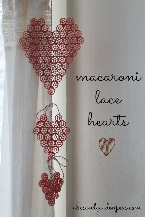 Macaroni Lace Hearts: an exercise in embracing the imperfect craft.  #macaroniart