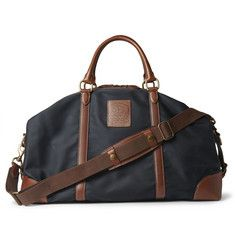 Polo Ralph Lauren Leather-Trimmed Canvas Holdall