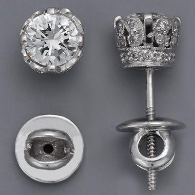 Edwardian Platinum Diamond Earrings