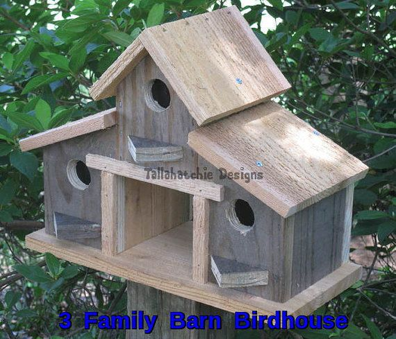 barn birdhouse, rustic barn bird house, outdoor gifts for dad, small barn birdhouse