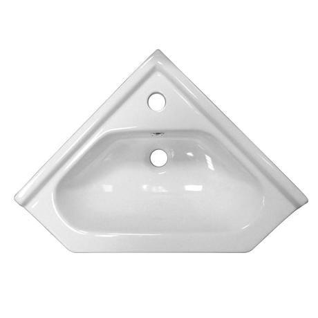 Alaska High Gloss White Corner Cabinet Vanity Unit w/ Ceramic Basin - VTCW001
