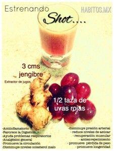 Shot: Uvas rojas y jengibre
