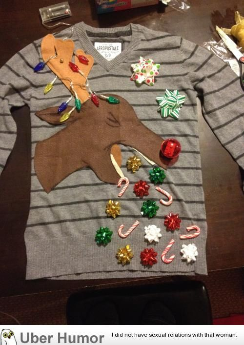 homemade ugly Christmas sweater