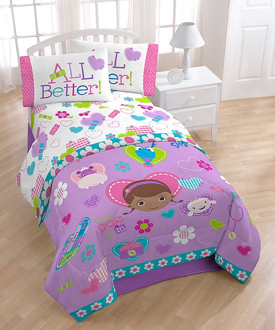 take a look at this purple doc mcstuffins friends twin sheet set on zulily today