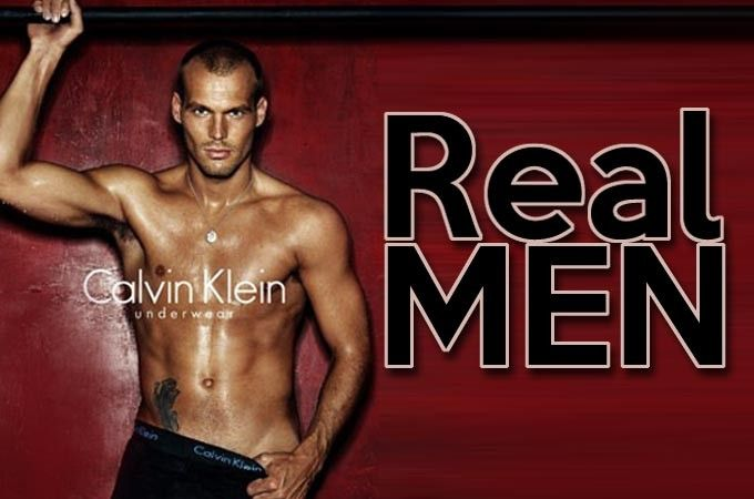 """Real men vs Underwear models Do """"real men"""" look like the sexy male models on the catwalk, or better yet... Underwear ads? #PinIT #Comment #read"""