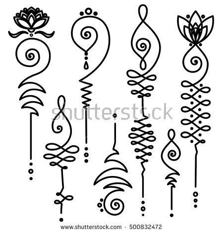 stock-vector-collection-of-unalome-buddhism-sacred-geometry-design-vector-spiritual-tattoos-500832472.jpg (450×470)
