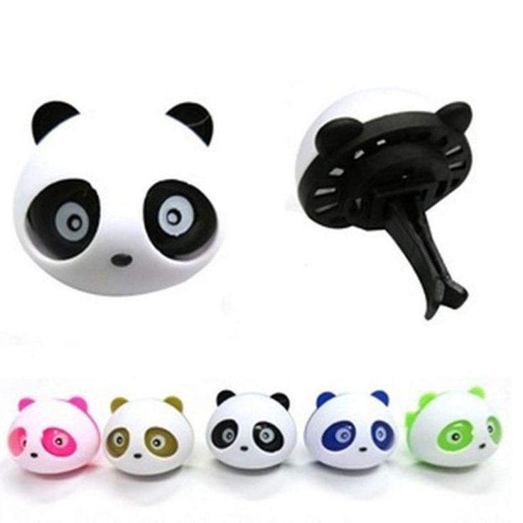 Car-styling Panda Car Perfumes 100 original 5ml Solid Air Freshener OEM Air Conditioning Vent Flavoring In Car parfums 2pcs/set