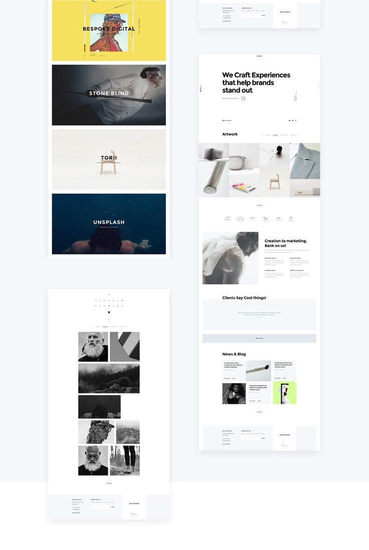 DECA - Creative Multi Concept Portfolio Template on Behance