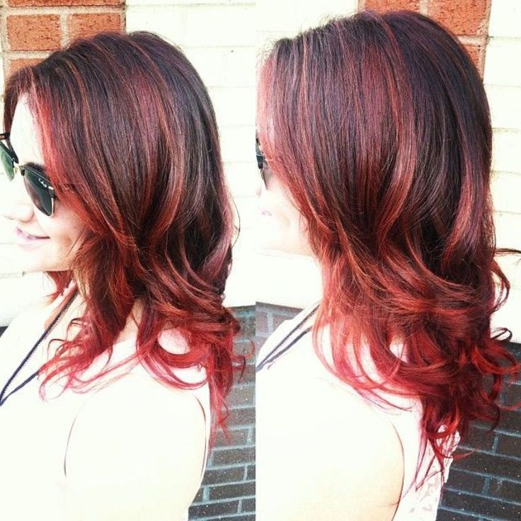 HD wallpapers medium length hairstyles with red highlights
