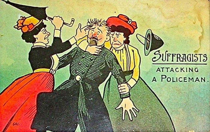 Anúncios do século 20 alertam para o perigo das mulheres que lutavam por direitos iguais
