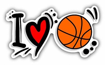 """I love basketball #sport slogan car #bumper sticker #decal 6"""" x 3"""",  View more on the LINK: http://www.zeppy.io/product/gb/2/252339512590/"""