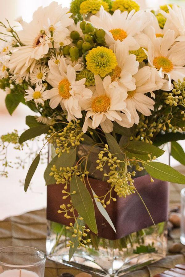 Daisy Wedding Centerpieces - Weddbook                                                                                                                                                                                 More