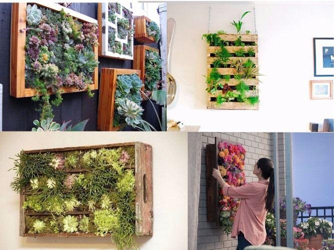 Quattro semplici idee da realizzare con le vostre mani, per portare a casa un po' di verde nel modo più originale, ossia in verticale, andando a sfruttare spazio non utilizzato e arredando casa con gusto e originalità. E portando, allo stesso tempo, un salutare tocco di verde nei vostri ambienti.