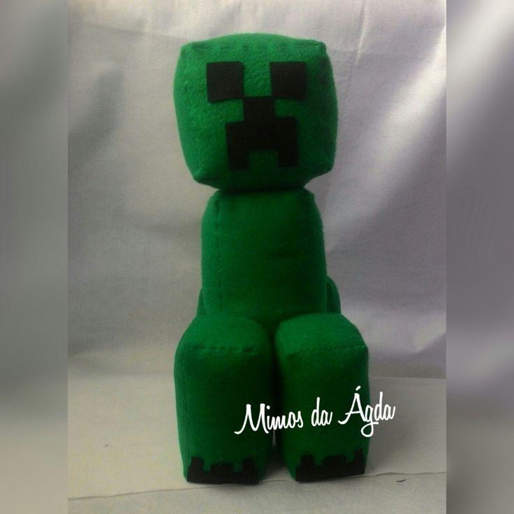 Creed de 38 cm em feltro. Minecraft em feltro